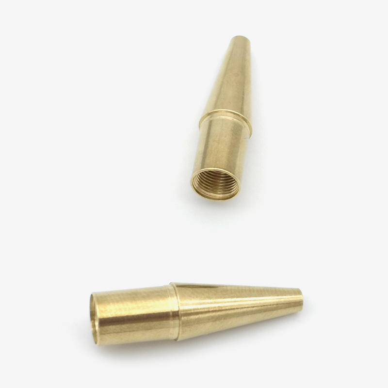 Brass CNC lathed part for pen component