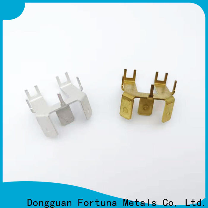 Fortuna discount metal stampings Chinese for electrical terminals for elastic parts
