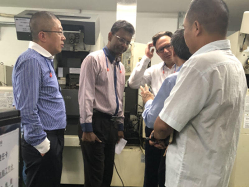 Japan TDK Customer Visit precision metal stamping company