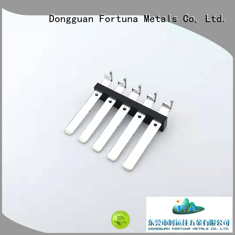 Fortuna utility precision metal stamping for sale for conduction,