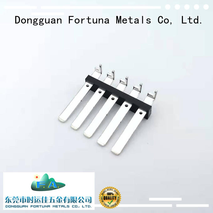 Fortuna precise precision metal stamping online for switching
